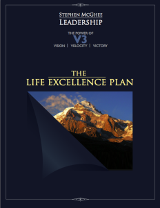 The Life Excellence Plan by Stephen McGhee